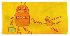 Robomama Beach Towel
