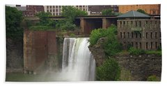 Beach Towel featuring the photograph Rochester, New York - High Falls 2 by Frank Romeo
