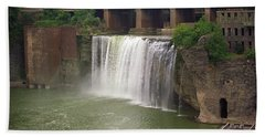 Beach Towel featuring the photograph Rochester, New York - High Falls by Frank Romeo