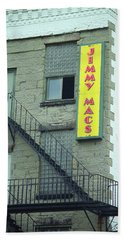 Beach Towel featuring the photograph Rochester, New York - Jimmy Mac's Bar 2 by Frank Romeo