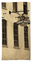 Beach Towel featuring the photograph Rochester, New York - Jimmy Mac's Bar 3 Sepia by Frank Romeo