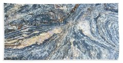 Rock Abstract Beach Towel by Russell Keating
