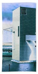 Rock And Roll Hall Of Fame - Electric Blue Beach Towel
