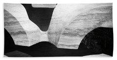 Rock And Shadow Beach Towel