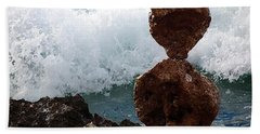 Rock Balancing Beach Towel