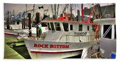 Beach Towel featuring the photograph Rock Bottom by Savannah Gibbs