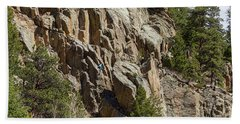 Beach Towel featuring the photograph Rock Climbers Paradise by James BO Insogna