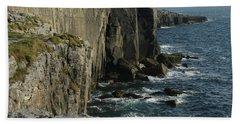 Rock Climbing Burren Beach Towel