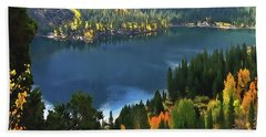 Rock Creek Lake In Fall Beach Towel