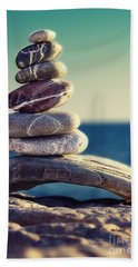 Stone Building Beach Towels