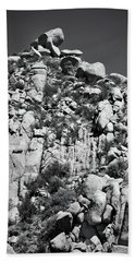 Rock Face Sandia Mountain Beach Towel