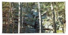 Rock Formation 3 - Ricketts Glen Beach Towel
