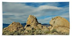 Beach Towel featuring the photograph Rock Formations At Pyramid Lake by Benanne Stiens
