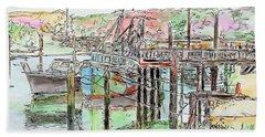 Rock Harbor, Cape Cod, Massachusetts Beach Towel