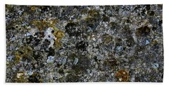 Rock Lichen Surface Beach Towel