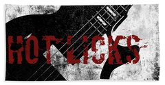Rock N Roll Guitar Beach Towel