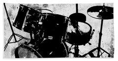Rock N Roll Percussion  Beach Towel