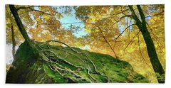 Beach Towel featuring the photograph Rock Of Ages by Jeff Folger