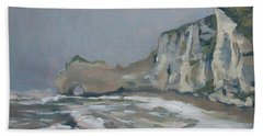 Rock Of Amont Etretat After The Rain Beach Towel