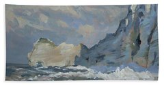 Rock Of Amont Etretat Beach Towel