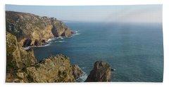 Rocks Near To Cabo Da Roca Beach Towel