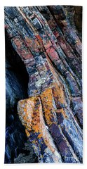 Beach Towel featuring the photograph Rock Pattern Sc01 by Werner Padarin