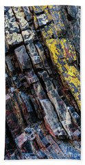 Beach Towel featuring the photograph Rock Pattern Sc02 by Werner Padarin