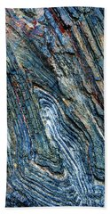 Beach Towel featuring the photograph Rock Pattern Sc03 by Werner Padarin