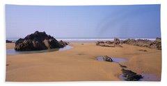 Rock Pools Beach Sheet by Richard Brookes