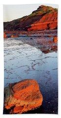 Rock Shelf At Long Reef 1 Beach Towel