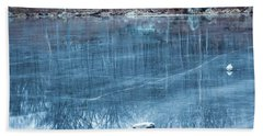 Rock Solid Frozen Beach Sheet by Jason Nicholas