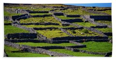 Beach Towel featuring the photograph Rock Walls Of Inisheer, Aran Islands by James Truett
