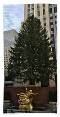 Rockefeller Center Christmas Tree Beach Sheet