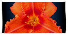 Rocket Orange Daylily Beach Sheet