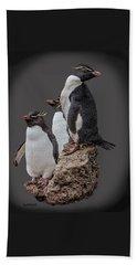 Rockhopper Penguins Beach Towel