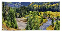 Beach Towel featuring the photograph Rockies And Aspens - Colorful Colorado - Telluride by Jason Politte