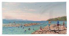 Rockpool At Currarong Beach Towel