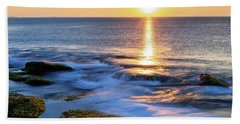 Rockport Golden Sunset Ma. Beach Towel