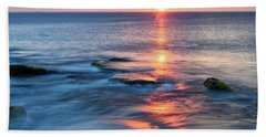 Rockport Pastel Sunset Ma. Beach Towel by Michael Hubley