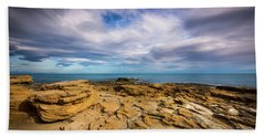 Rocks And Clouds. Beach Towel
