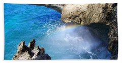 Rocks And Rainbow Beach Towel