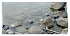 Rocks And Water Beach Sheet