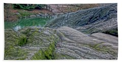 Rocks At Central Park Beach Towel by Sandy Moulder
