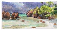 Rocks Of Motu Rakau, Aitutaki Beach Towel