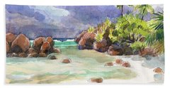 Rocks Of Motu Rakau, Aitutaki Beach Sheet