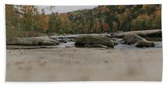 Rocks On Cumberland River Beach Towel