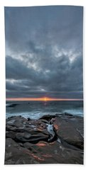 Rocks On Fire Beach Towel by Peter Tellone