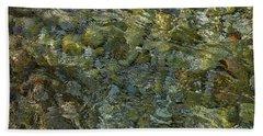 Beach Towel featuring the photograph Rocks Under The Soca River #2 - Slovenia by Stuart Litoff
