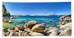 Rocky Cove Sand Harbor Beach Towel by Jason Abando