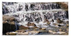 Beach Towel featuring the photograph Rocky Creek by Ella Kaye Dickey